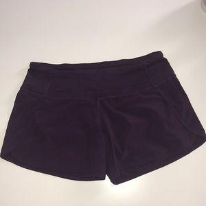 "Lululemon run times 4"" inseam purple size 4"